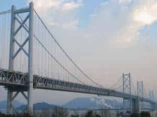 橋梁鉄骨とメッキ札
